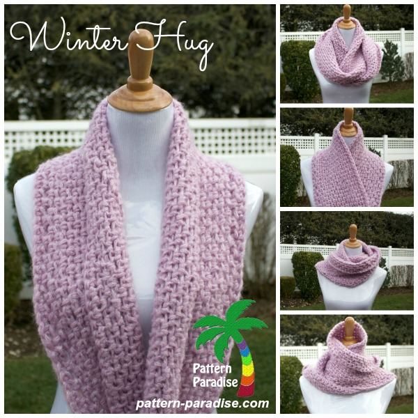 Winter Hug Infinity Scarf free pattern wonderfuldiy Wonderful DIY Crochet Winter Hug Infinity Scarf with Free Pattern