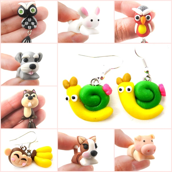 animal-themed-polymer-clay jewelry-wonderfuldiy