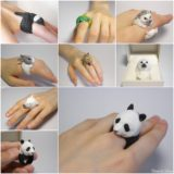 Wonderful Handmade Polymer Clay Animal Rings