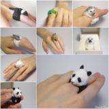 Wonderful Handmade Polymer Clay Animal Rings