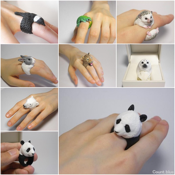 animal themed polymer clay jewelry wonderfuldiy2 Wonderful Handmade Polymer Clay Animal Rings