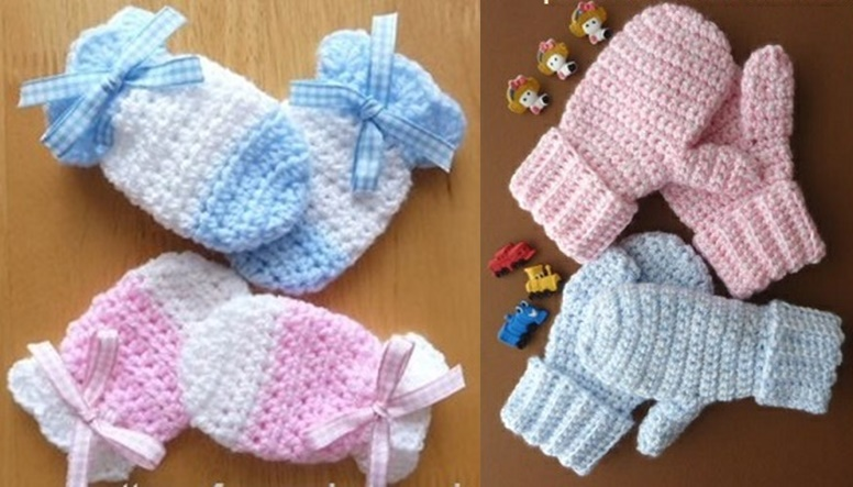baby mitten crochet pattern wonderfuldiy f Wonderful DIY Crochet Kids Mitten with Free Pattern