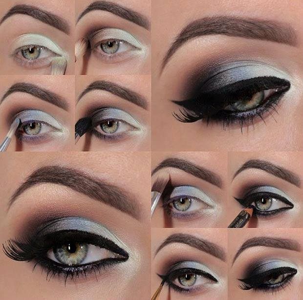 Eye makeup tutorial for dark blue eyes