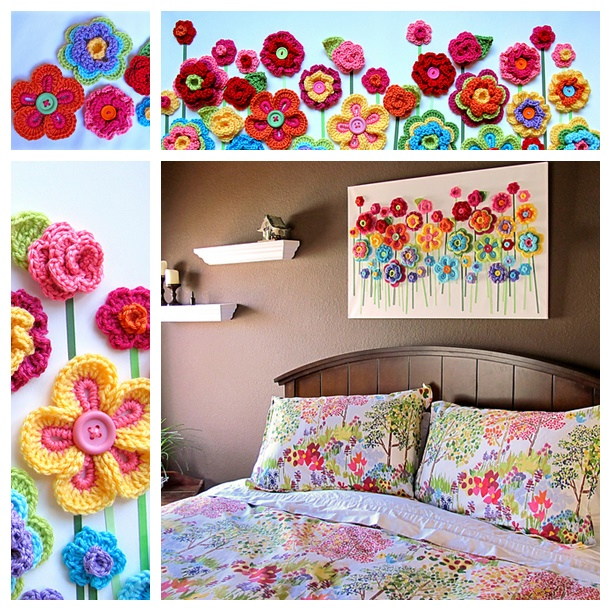 button Floral Fantasy crochet wonderfuldiy Fabulous Crochet Button Flowers   Bright, Beautiful and Easy to Make