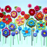 Fabulous Crochet Button Flowers – Bright, Beautiful and Easy to Make