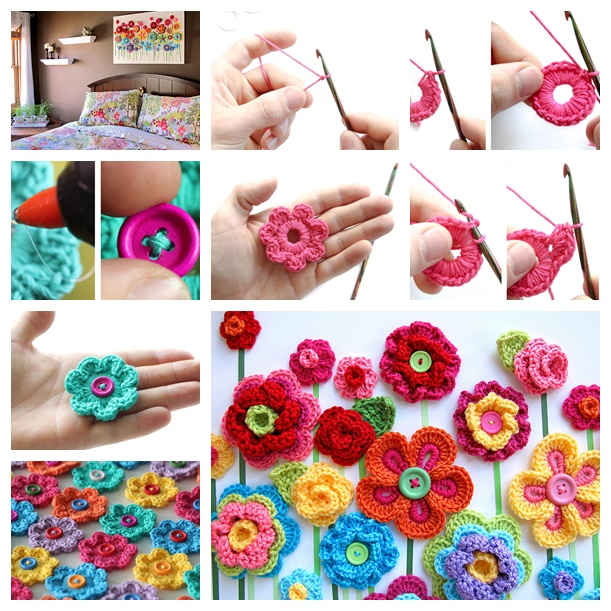 button Floral Fantasy crochet-wonderfuldiy2