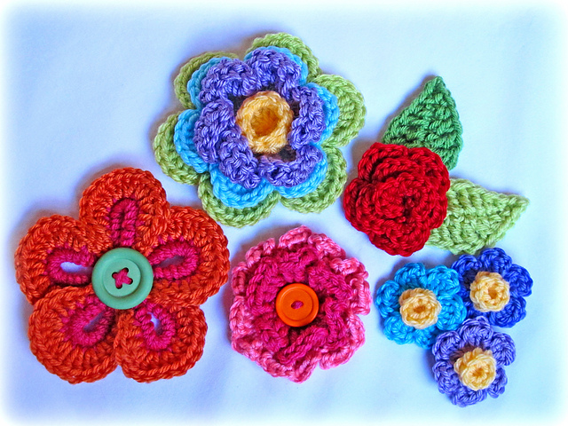 button Floral Fantasy crochet-wonderfuldiy3