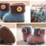 Wonderful DIY Crochet Cuffed Baby Booties with Free Pattern