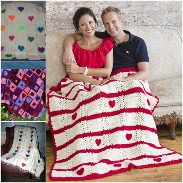 crochet Valentine afghan free Pattern wonderfuldiy Wonderful DIY Crochet Valentine Heart  Afghan with Free Pattern