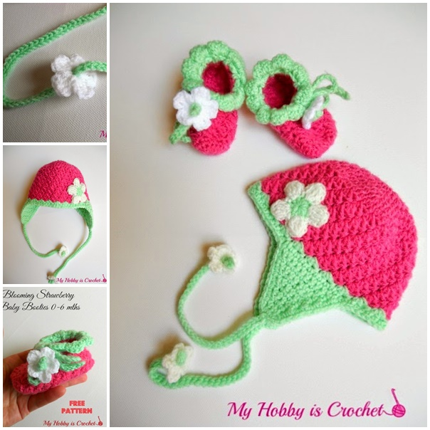 crochet+baby+earflap+hat+and+booties+free+patterns-wonderfuldiy