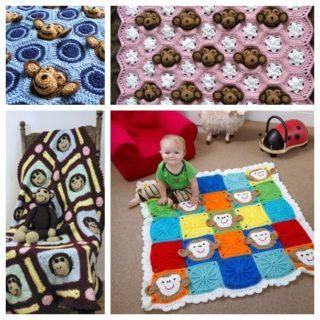 Cute Crochet Monkey Blankets for Babies