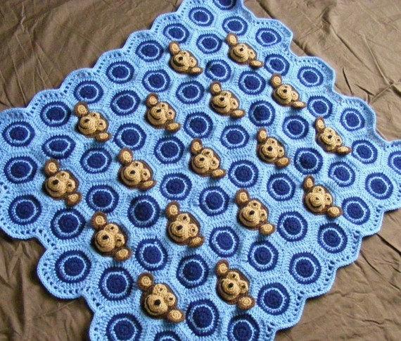 crochet monkey blanket pattern- wonderfuldiy2