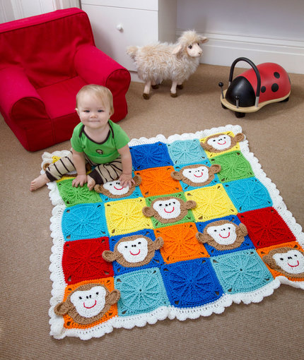 crochet monkey blanket pattern- wonderfuldiy3