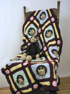 crochet monkey blanket pattern- wonderfuldiy4