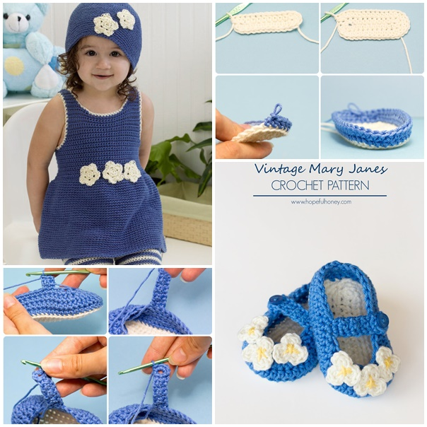 crochet romper hat slippers set -wonderfuldiy