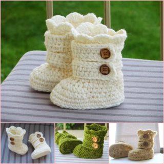 Classic DIY Crochet Snow Boots