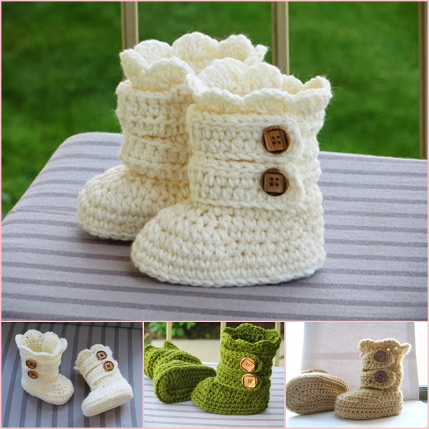 crochet snow boots pattern wonderfuldiy Classic DIY Crochet Snow Boots