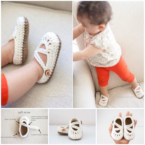double stapped baby mary janes slippers crochet pattern Wonderful DIY Crochet Double Strapped Baby Mary Jane Slippers