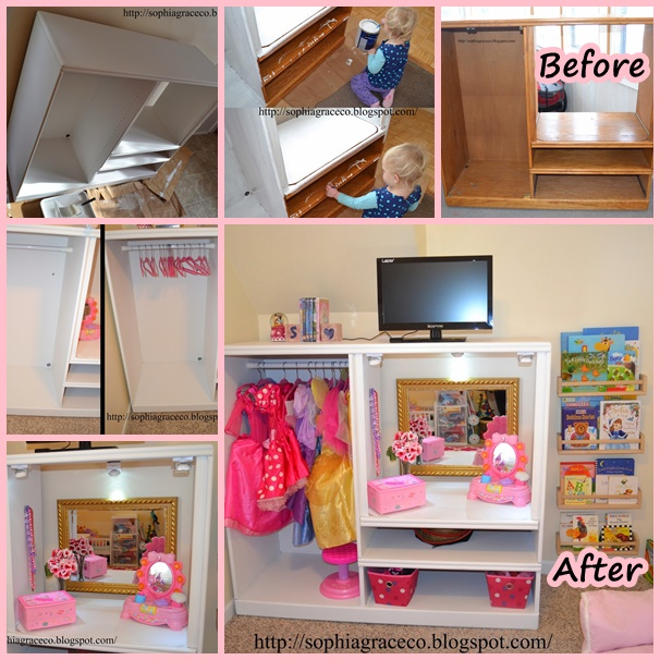 dress up Make over from TV stand wonderfuldiy f2 Wonderful DIY Princess Dress Up Makeover