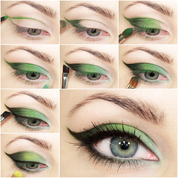 green-eye makeup  wonderful DIY