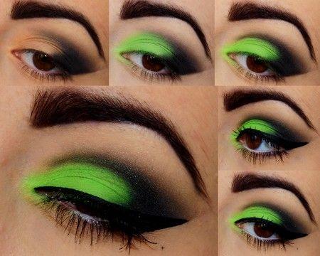 green-eye makeup  wonderful DIY2