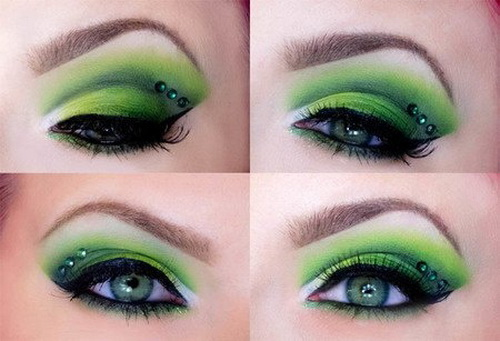 green-eye makeup  wonderful DIY3