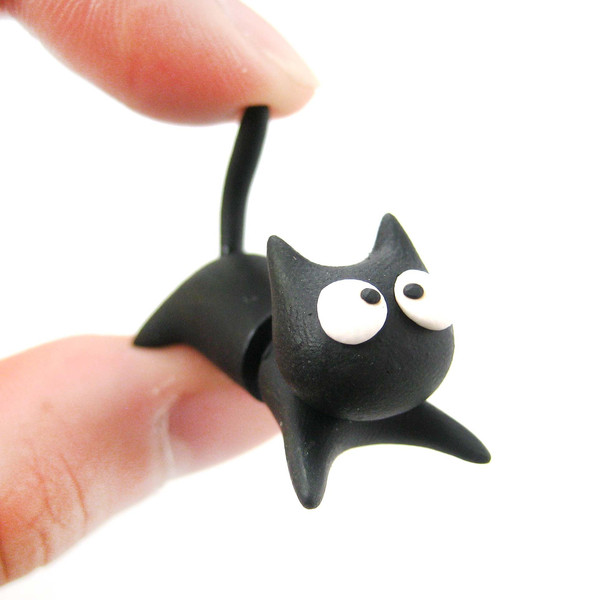 handmade-black-kitty-cat-animal-fake-gauge-clay-stud-earring-dotoly_grande