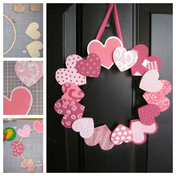 heart wreath valentine's day-wonderfuldiy