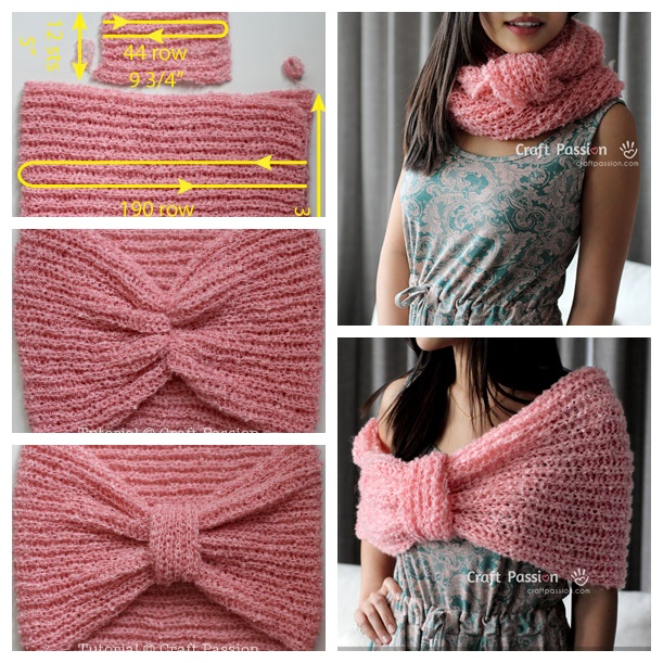 knit infinity cowl scraf pattern wonderfuldiy2 Wonderful DIY Knitted Cowl Scarf with Free Pattern