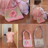 Wonderful DIY Crochet Little Kids Handbag with Free Pattern