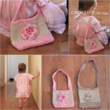 Wonderful DIY Crochet Little Kids Handbag with Free Pattern