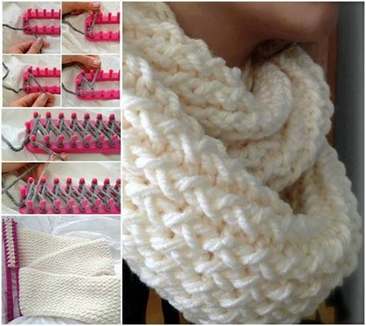 make a beautiful scarf with a knitting loom