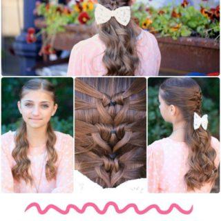 Wonderful DIY Mermaid Heart Braid Hairstyle