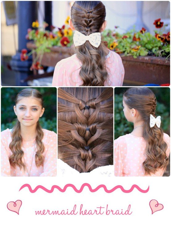 mermaid heart braid hairstyle wonderfuldiy 1 Wonderful DIY Mermaid Heart Braid Hairstyle