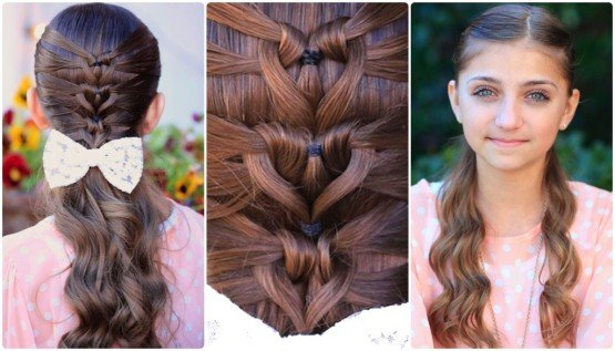 mermaid heart braid hairstyle-wonderfuldiy