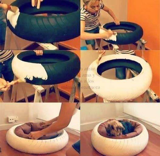 pet-bed-from-tire-wonderfuldiy