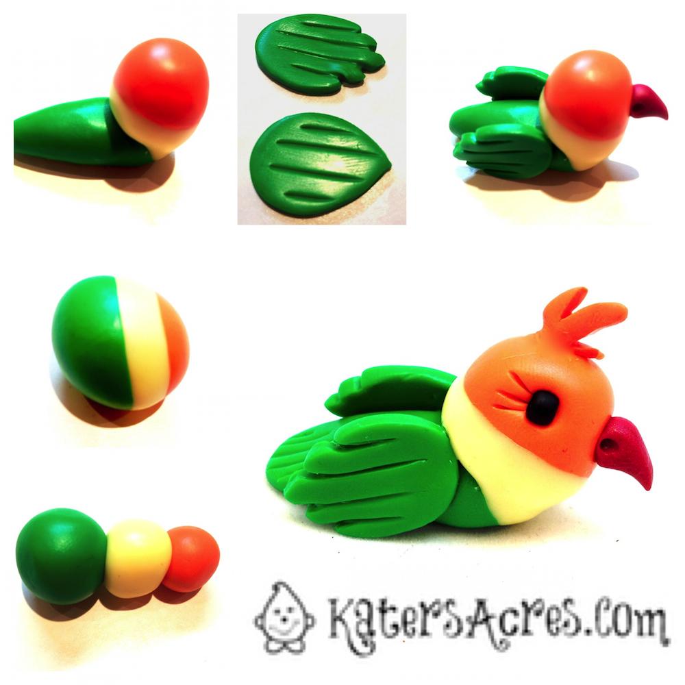 polymer clay birds-wonderfuldiy