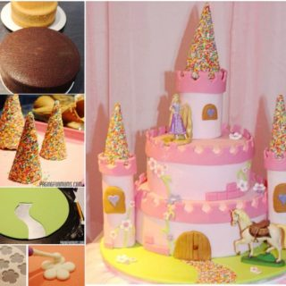 Wonderful DIY Amazing Princess Castle Cake