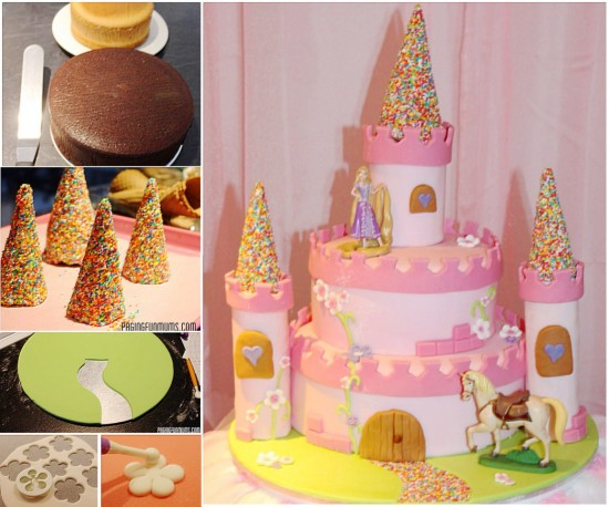 princess castle cake wonderfuldiy Wonderful DIY Amazing Princess Castle Cake
