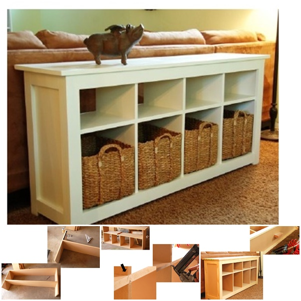 sofa table plan wonderfuldiy Wonderful DIY Sofa Table with Free Plans