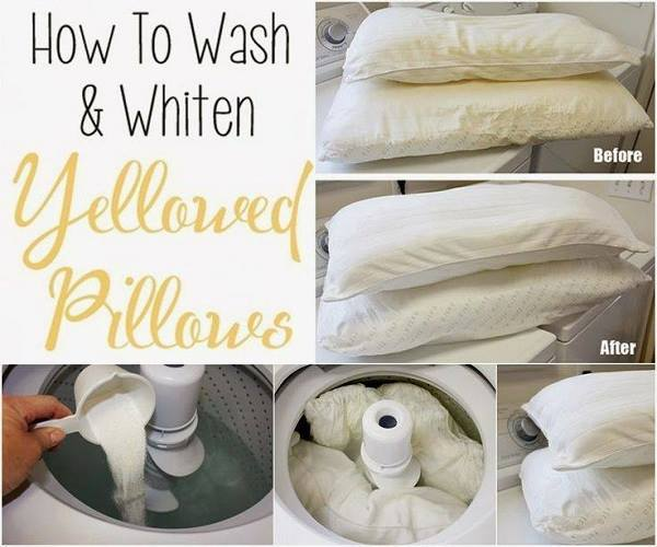 tips for How to wash and whiten pillows wonderfuldiy Wonderful Tips for Cleaning Yellow Pillows
