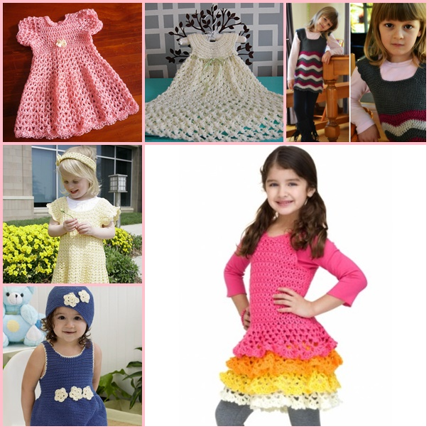 16 dress free crochet patterns wonderfuldiy 16 Patterns for Cute Crochet Girls Dresses