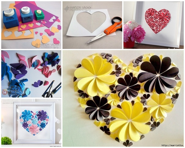 Delightful diy paper flower wall art free guide and templates view in gallery 3d paper flower heart wonderfuldiy2 delightful diy paper flower wall art free guide and templates mightylinksfo