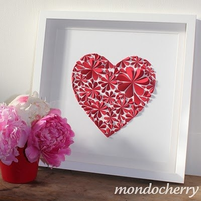 3d paper flower heart- wonderfuldiy3