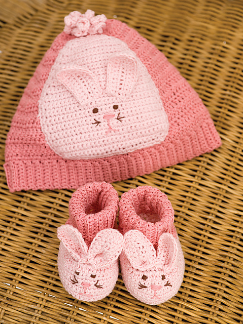crochet bunny hat booties set gift