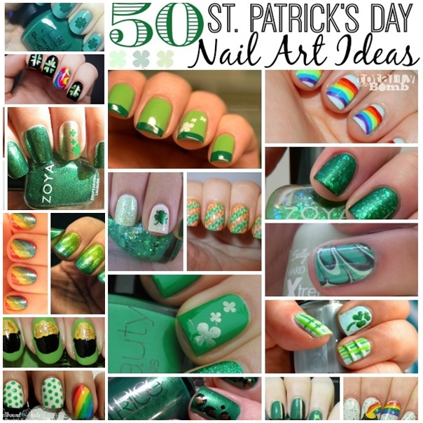 50 Awesome St Patricks Day Nail Art Ideas