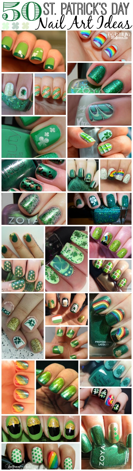 50 St Patricks Day Nail Art Ideas1 50 Awesome St. Patrick's Day Nail Art Ideas