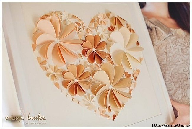 Elegant 3d Paper Flower Wall Art