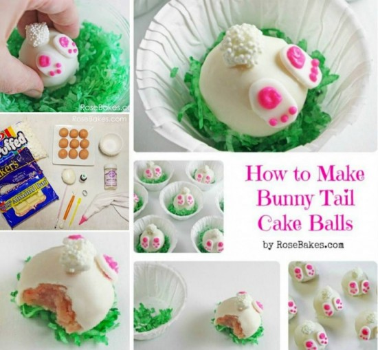 Bunny Tail Cake Balls1 wonderfuldiy Wonderful DIY Easter Bunny Butt Cookies