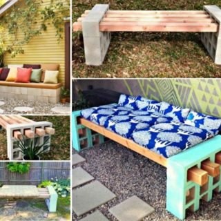 Wonderful DIY Cinder Block Bench